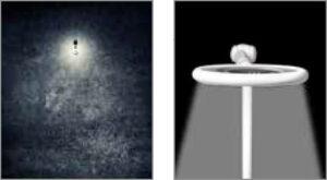 z lewej słabe światło a z prawej mocne równomierne światło